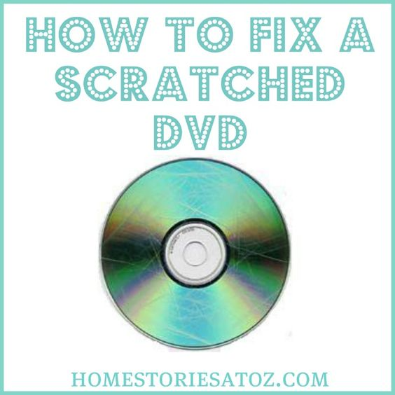 Don't throw away scratched DVDs before trying this tip! It has saved so many of our disks!