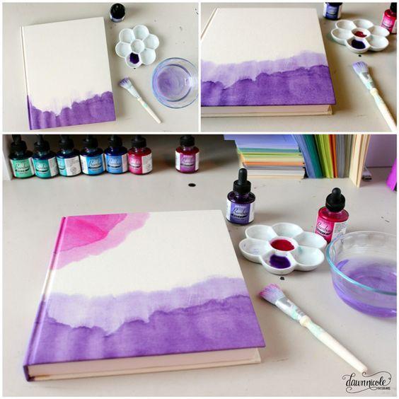 Diy Ideas Para Pintar Con Acuarelas Utiles Escolares Bricolaje