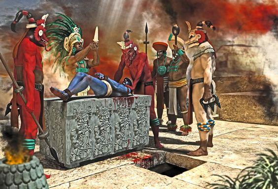 Mayan Sacrifice | Other Shows | Discovery |Maya Sacrifice Stamp