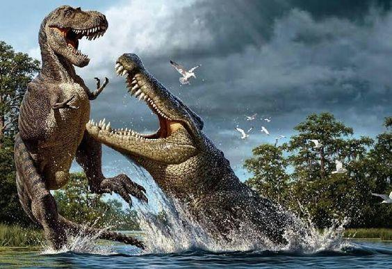 Deynosuchus an ancient crocodile.