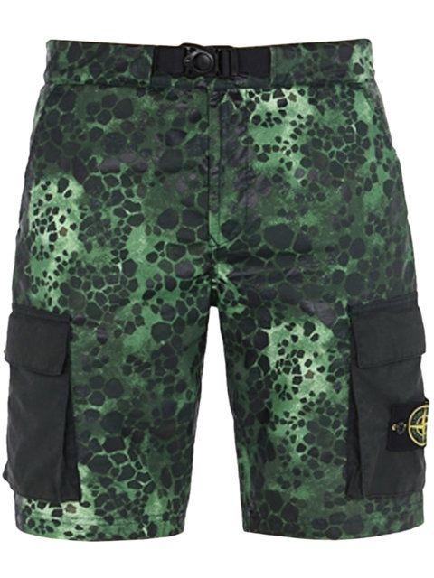 Stone Island Green Cargo Shorts