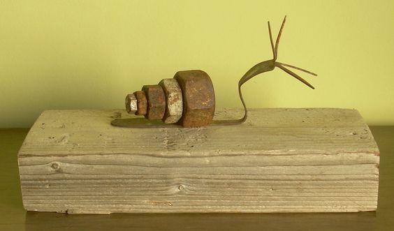 """Saatchi Online Artista: Oriol Cabrero, objetos encontrados, Assemblage / Collages """"caracol"""""""