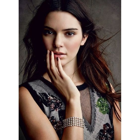 Kendall Jenner's First Full Spread For Vogue Magazine ❤ liked on Polyvore featuring faces and kendall jenner