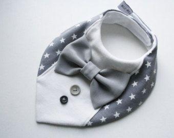 Baby Lätzchen junge Taufe Lätzchen, Hemd Fliege Lätzchen Baby Bandana Lätzchen abnehmbare Fliege, Baby-Dusche-Geschenk für Babys, Kleinkinder