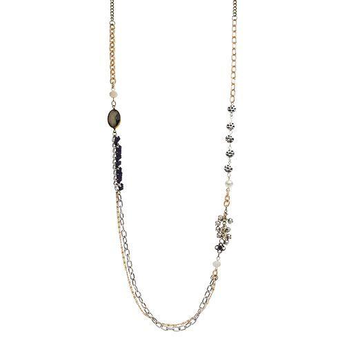 Mudd® Bead Asymmetrical Swag Necklace