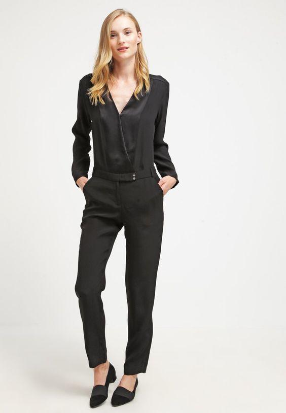 ikks combinaison noir pour femme prix promo combinaison ikks zalando look femme. Black Bedroom Furniture Sets. Home Design Ideas