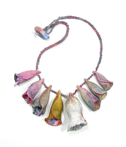 Polymer Clay Multicolor Bells Necklace, Fake Ceramics Charms Necklace
