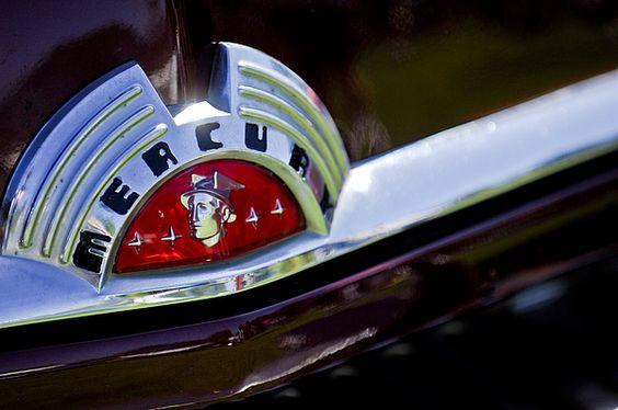 Mercury Images by Jill Reger - Images of Mercurys - 1951 Mercury Coupe Hood Ornament