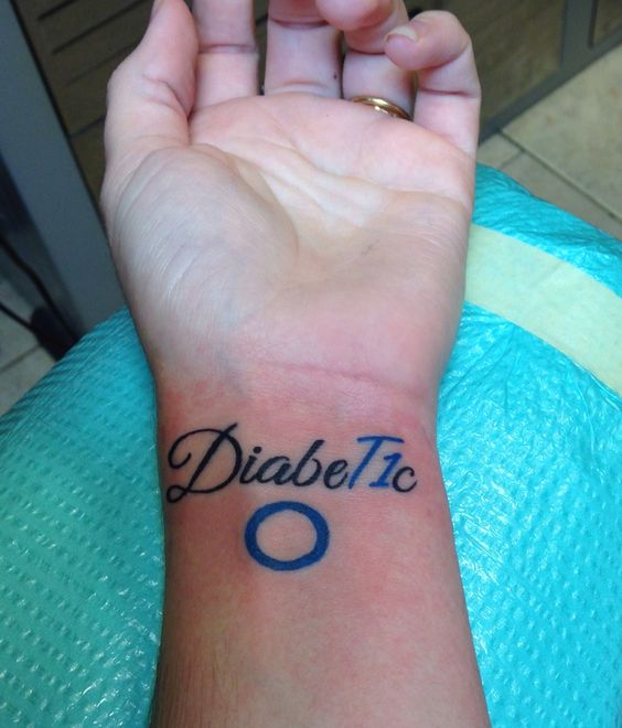 Type 1 tattoos and body art and circles on pinterest for Type 2 diabetes tattoo