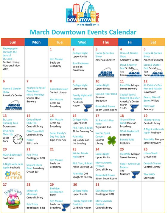 January Downtown Events Calendar St Louis Downtown Events 2017 - event calendar