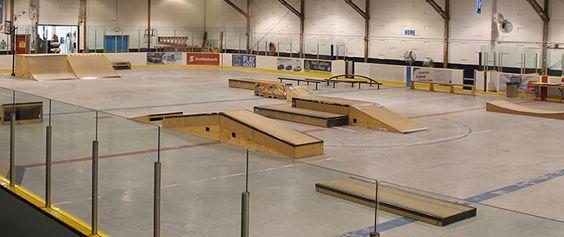 Image of the Kinoak Indoor Skateboard Park.