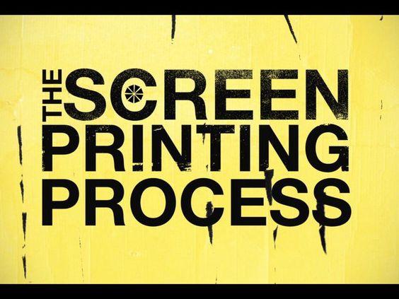 Screen Printing & Designer Process Video