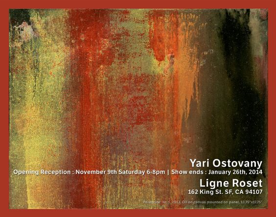 You are invited to Yari  Ostovany Art Opening Reception on Saturday, November 9th from 6-8 pm. Bring your friends and family to meet the artist Ligne Roset San Francisco! We are looking forward to seeing you! http://ow.ly/oKNUC #LigneRosetSF #Art #Exhibit #YariOstovany