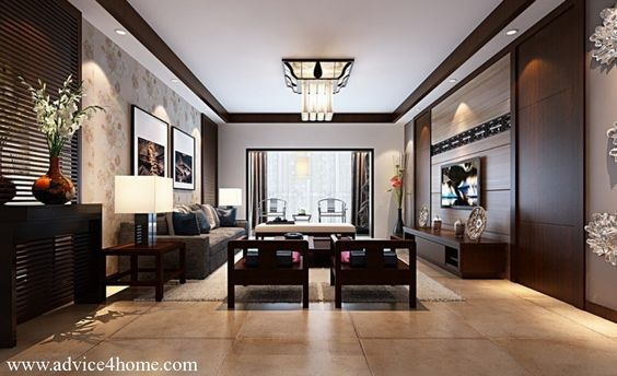 white coffee ceiling pop design and wall design in living room ...