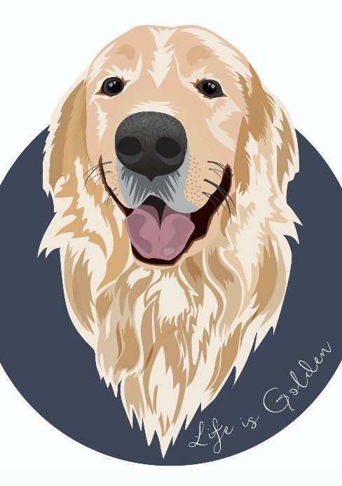 Golden Retriever Wall Art Golden Retriever Print Dog Lover