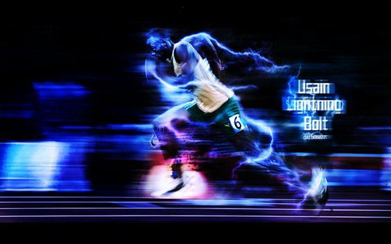 "Usain ""Lightning"" Bolt by real-squazer"