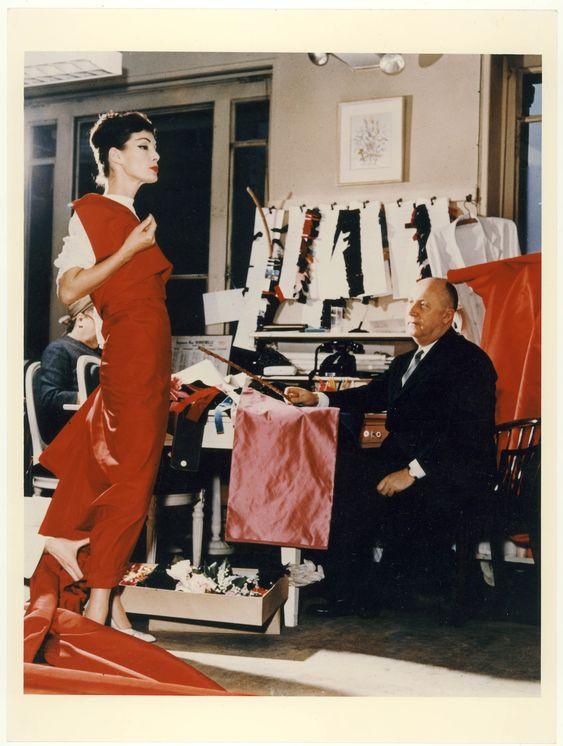 Christian Dior and model Lucky, circa 1950. Discover more on www.dior.com