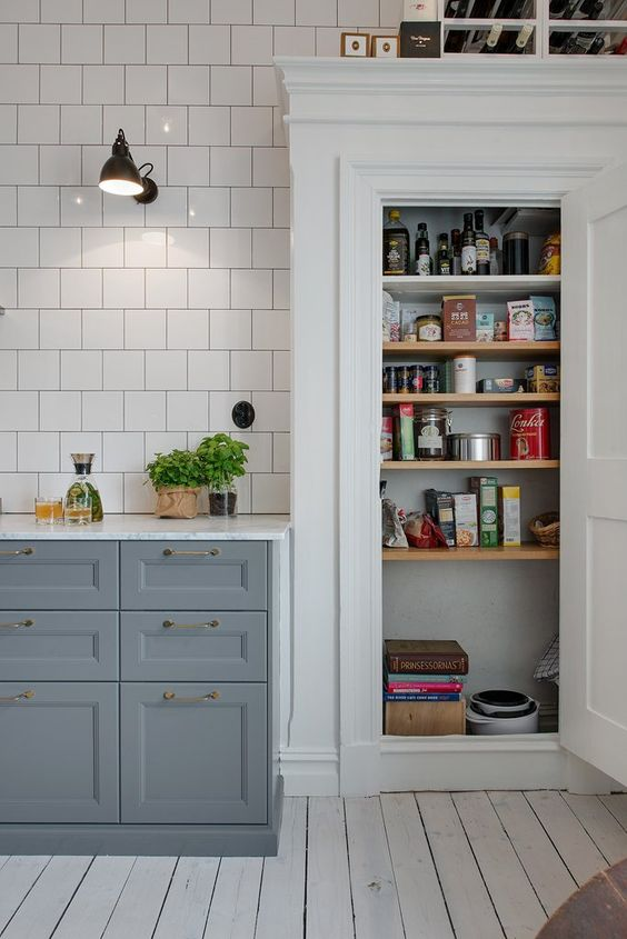 Kitchen Scandinavian Old Retro Pantry Kitchen Pinterest Gray Cabinets Grey And Gray