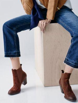 Joe crop bootcut jeans