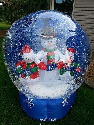 Gemmy christmas snow globe airblown inflatable 5 feet for Outdoor christmas globes