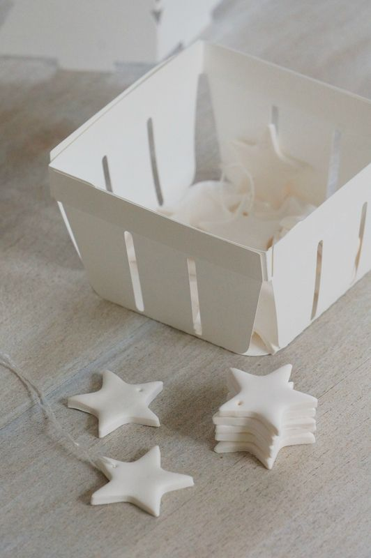 Étoile blanche en fimo