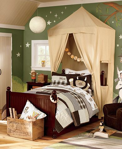 Where the Wild Things Are Bedroom | Pottery Barn Kids - So I already bought the Very Hungry Caterpillar for Henry, but this is even better!  now what to do with all that catterpillar stuff....
