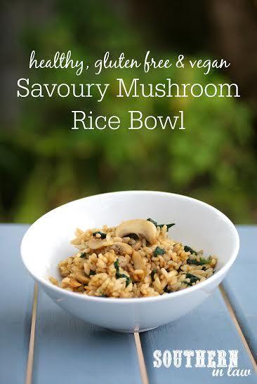 Mushroom rice, Rice bowls and Mushrooms on Pinterest