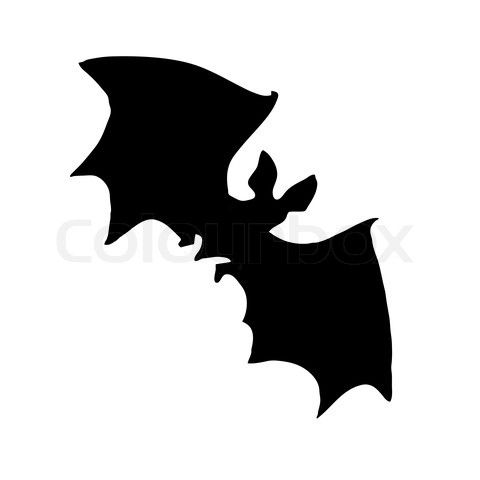 ghost silloetts | Stock vector of 'vector silhouette bat on white background'
