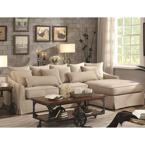 Sectional Sofa With Chaise And Feather Blend Cushions Xoom Furniture We Finance 0 On In Sectional Sofa Slipcovers Sectional Sofa With Chaise Sofa Furniture