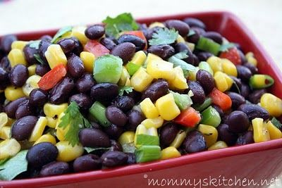 Mommy's Kitchen: Yummy Black Bean and Corn Salad for Potluck Sunday