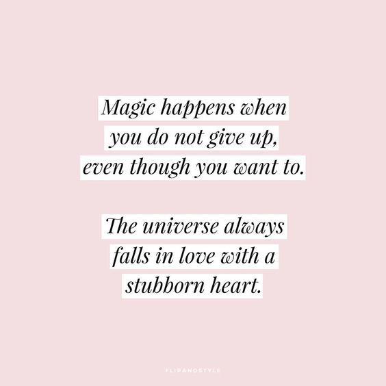 Stubborn heart: