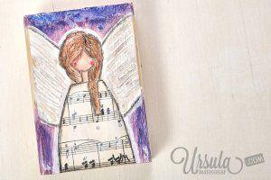"Wooden angel ""Estrella""  #christmas #angel #mixedmediaart #ursulamarkgraf #weihnachten #engel"