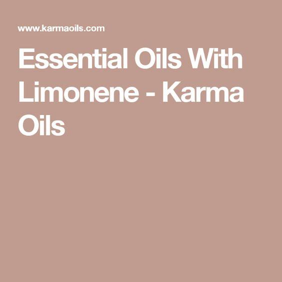 Essential Oils With Limonene - Karma Oils