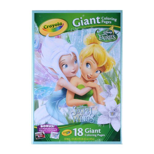 Crayola Giant Color Pages Disney Fairies Crayola Http Www Amazon Com Dp B00540q4re Ref Cm Sw R Pi Dp Zklqub02jmvd3 Disney Fairies Doodle Pages Crayola