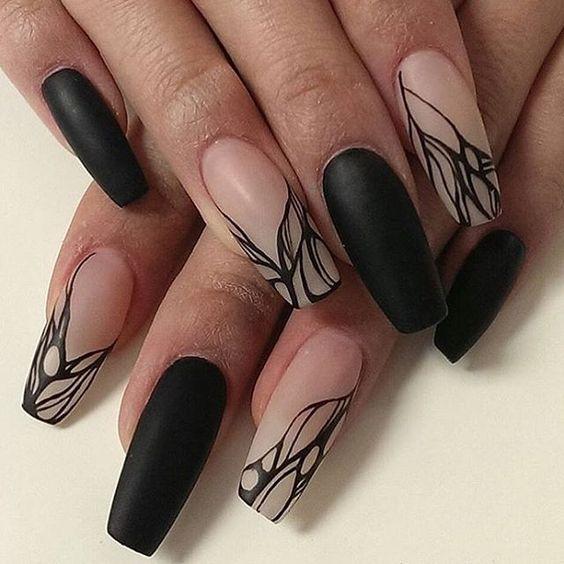 Mottled matted manicure by @sweetpoints_nailstudio. #mattenails #nailsmagazine