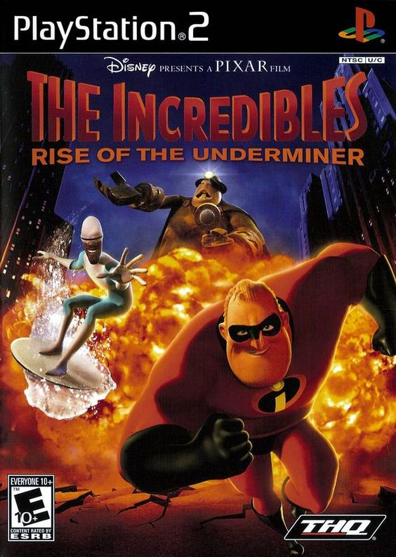 Incredibles Rise Of The Underminer Sony Playstation 2 Game Jogos