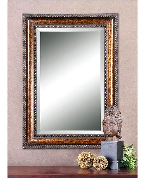 Uttermost Sinatra Large Bronze Mirror Silver Wall Mirror Rustic