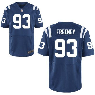 New Colts 93 Dwight Freeney Nike Elite Jersey Blue Team Color