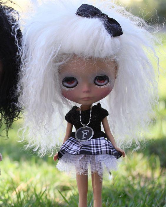 Black and White PARTY DRESS for Blythe por BlytheFifthAvenue