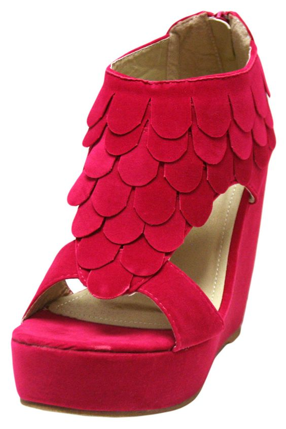 Suede Style Layered Petals Platform Shoes