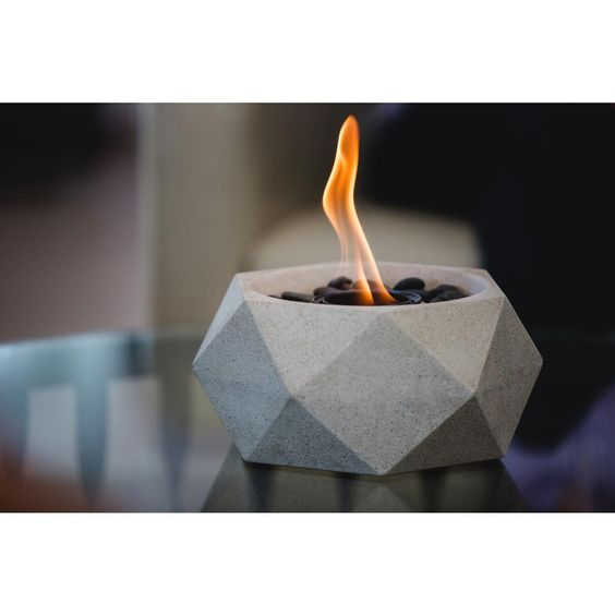 Terra Flame Geo Fire Bowl White Fire Bowls Fire Pit Chimney Wood Fire Pit