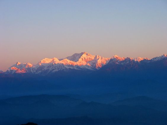 Tiger Hill, Darjeeling which is 11kms from Darjeeling town is famous for the spectacular sunrise.