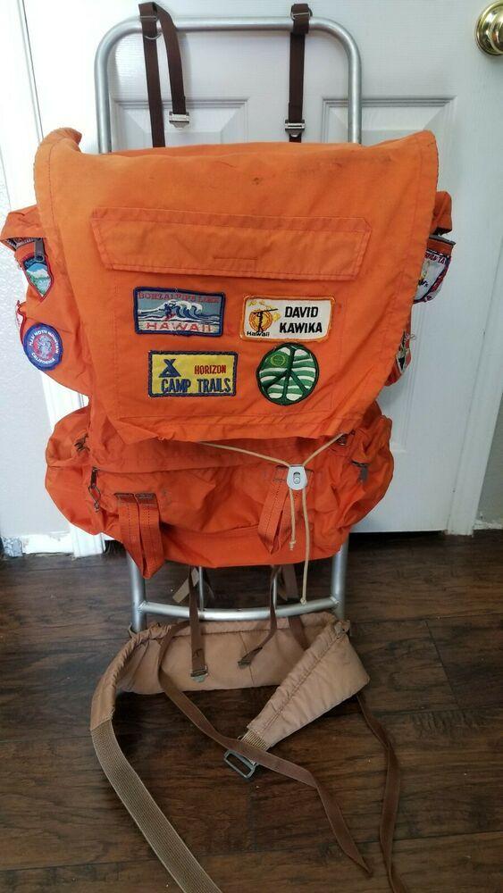 Camp Trails Ponderosa External Frame Aluminum Backpack Extendable Top Ebay In 2020 Camp Trails Vintage Camping Backpacks