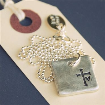 "adore this pretty pendant!  ""faith hope love necklace"" @Lisa Leonard Designs  $64"