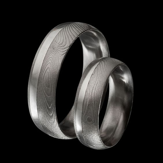Trauringe Damias Ring + Silver Inlay