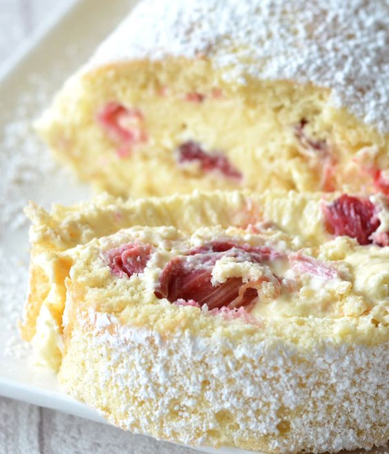 This roulade is a great way to enjoy that classic pairing of rhubarb and custard in a chilled dessert, perfect to follow a summer salad or barbecue.