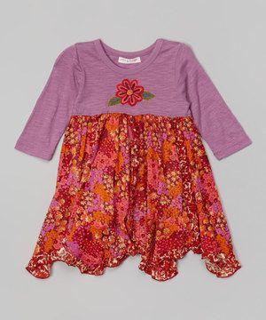 Red Leaves Handkerchief Dress - Infant, Toddler & Girls by Mimi & Maggie #zulily #zulilyfinds