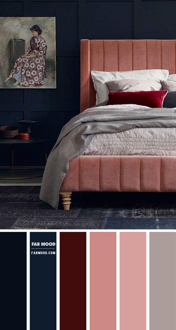 Kombinasi 2 Warna Cat Kamar Tidur Biru dan Pink 9