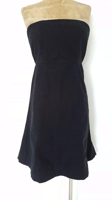 GAP Dress Size Medium Strapless Black Mini Stretch Summer Little Black Dress #GAP #Sheath #LittleBlackDress