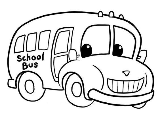 Aneka Gambar Mewarnai Gambar Mewarnai Bus Sekolah Untuk Anak